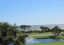 ocean view from golf course Oak Island NC