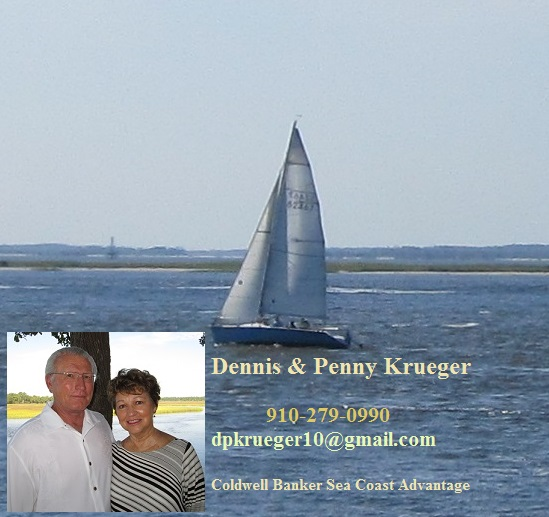 Dennis and Penny Krueger Sailboat picture Southport NC