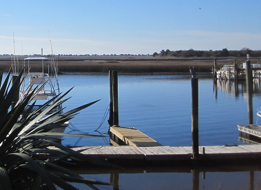 photo of the marina at Southport North Carolina