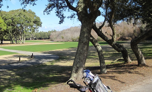 golf course at Caswell Beach and Oak Island NC