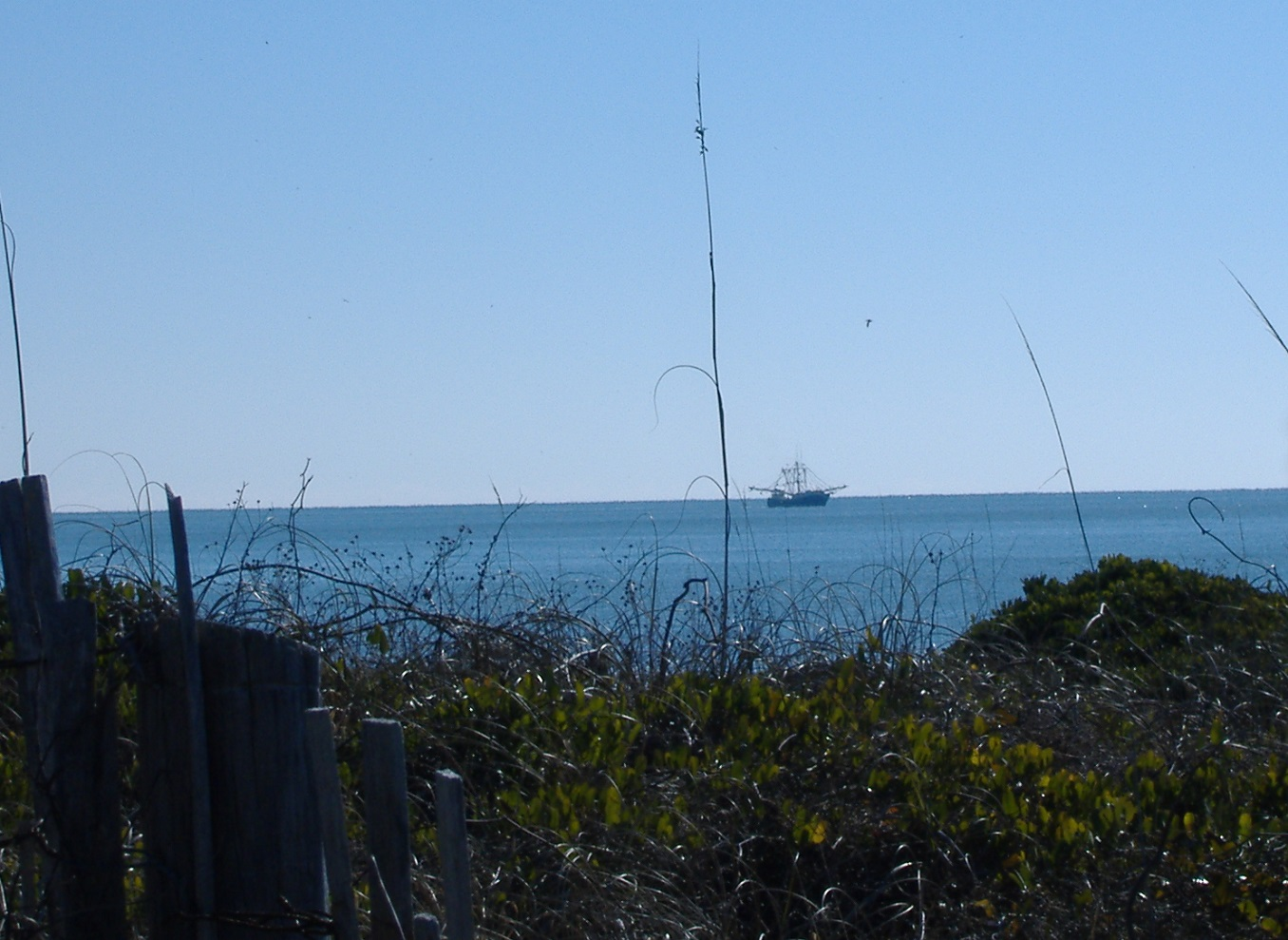 fishing boat on the ocean at Oak Island NC