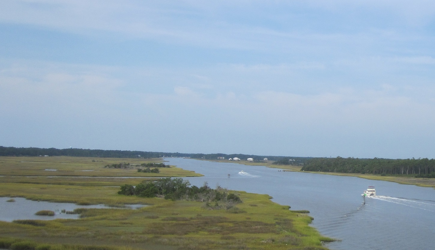 Oak Island NC pictures Intracoastal Waterway