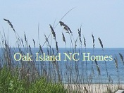 beach and sea oats at Oak Island NC
