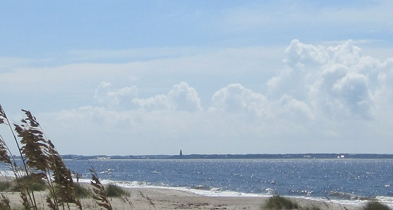 ocean at Oak Island North Carolina