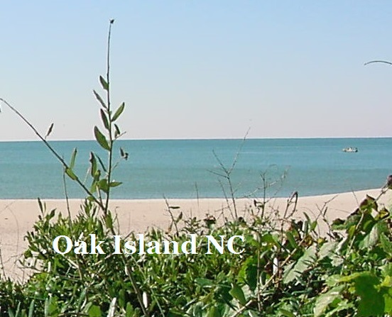 ocean and beach at Oak Island and Caswell Beach NC