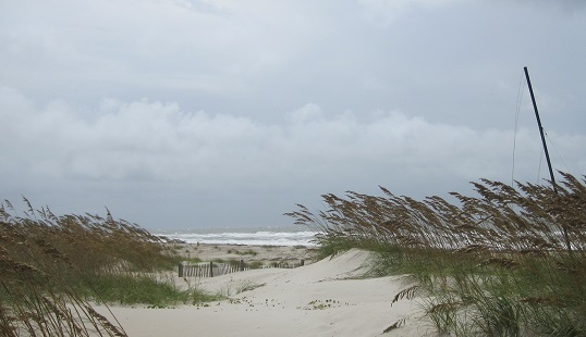 beach and ocean at Oak Island NC