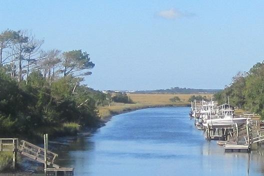 Davis Canal at Oak Island NC