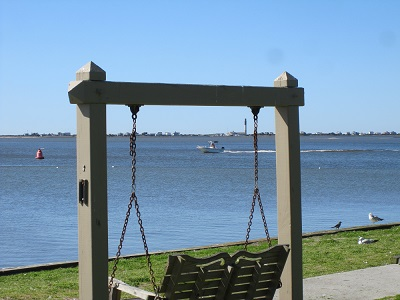 Southport NC Waterfront - swings