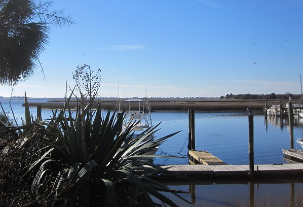 waterfront area at Southport NC