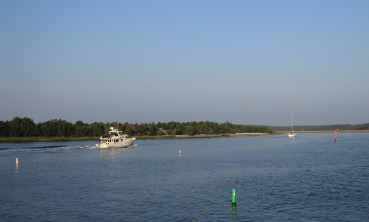 Photo of boats on the Intracoastal Waterway at Sunset Harbor NC