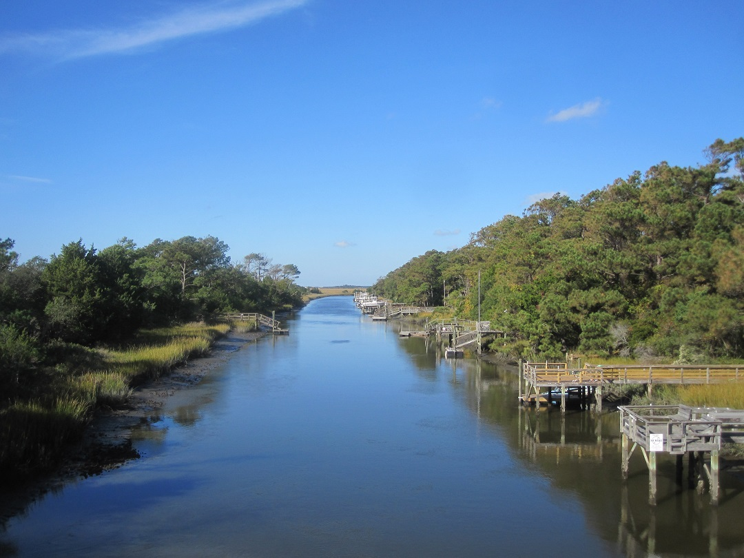 Davis Canal Oak Island North Carolina
