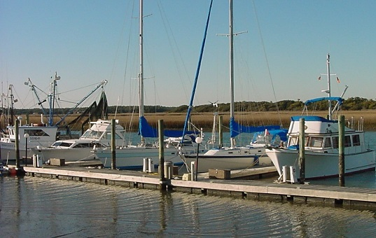 Picture of boats and a marina at Oak Island NC