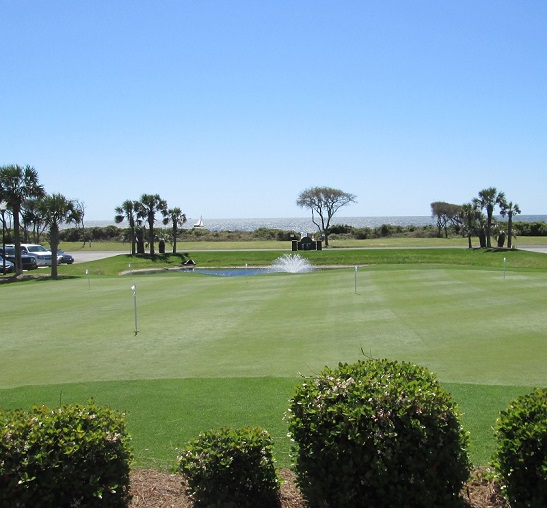 Oak Island NC pictures golf course and ocean