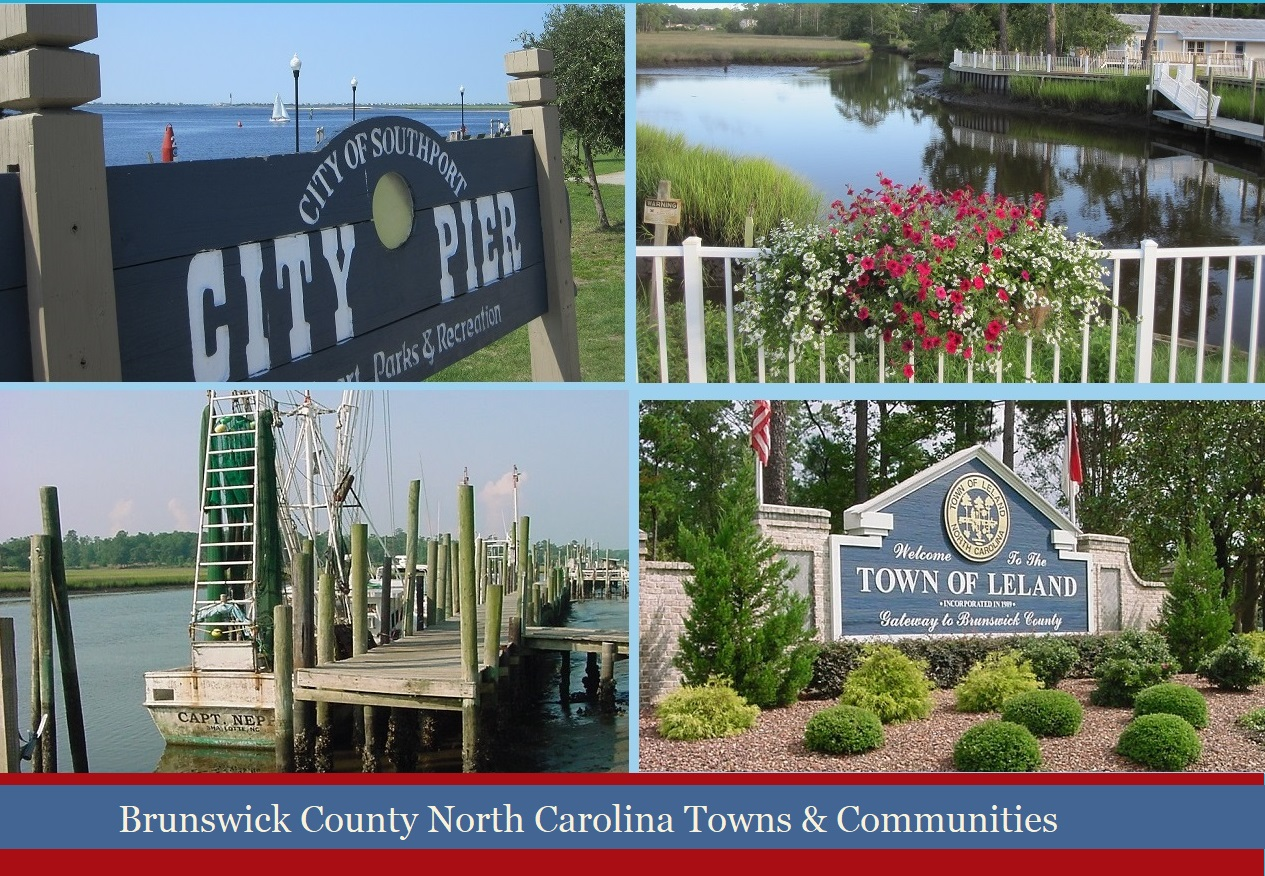 Brunswick County NC towns and communities