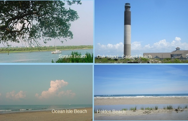 Brunswick County NC beaches and islands