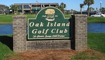 Golf course at Oak Island North Carolina