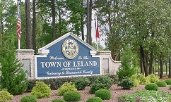 Town of Leland NC Welcome sign