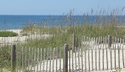the beach at Oak Island NC