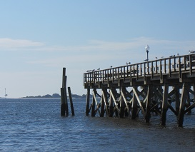 View the City Pier at Southport NC